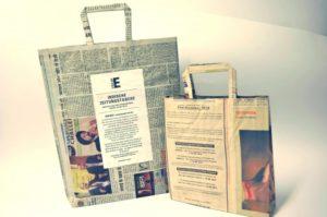 Atelier sur le thème du travail des enfants: Fabrication de sacs en papier